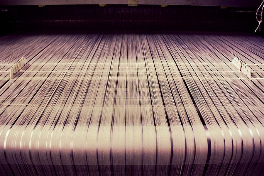 和紙生地の織り生産工程