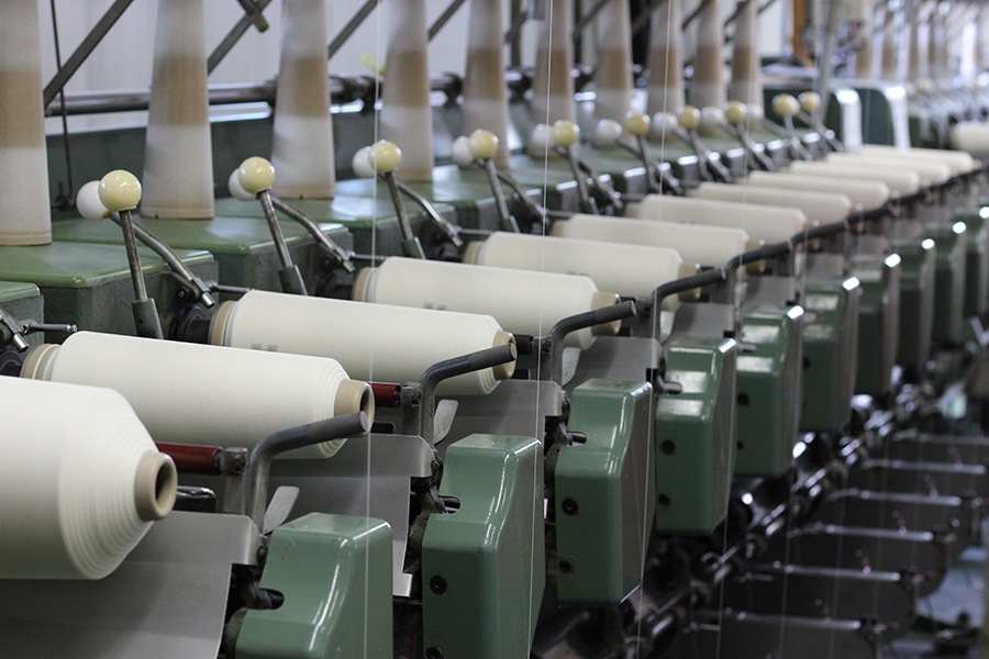 和紙糸の生産工程